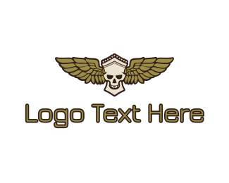 Greek - Greek Skull Wing logo design