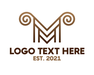Horns - Luxury M Horns logo design
