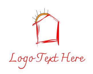 Draw - Red House logo design