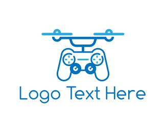 Gaming - Controller Drone logo design