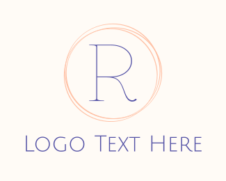 Minimalist - Minimalist R Circle logo design