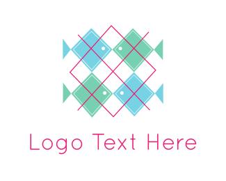 Needlework - Fish Pattern logo design