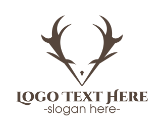 Hunter - Minimalist Antlers logo design
