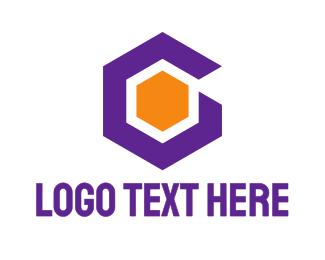 Violet - Violet Hexagon G logo design