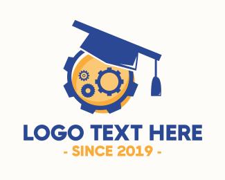 Research - Industrial Graduation logo design