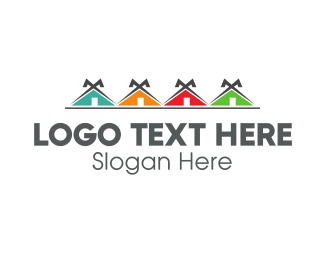 Townhouses - Colorful Neighborhood logo design