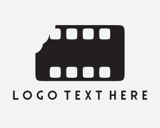 Hollywood - Bite Filmstrip logo design