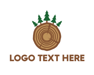 Trunk - Pine Wood logo design