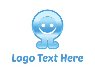 Winter - Blue Button Cartoon logo design