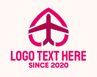 Airport - Travel Heart logo design