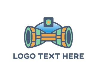 Futuristic - Camera Ship logo design