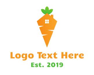 Land Developer - Carrot House logo design