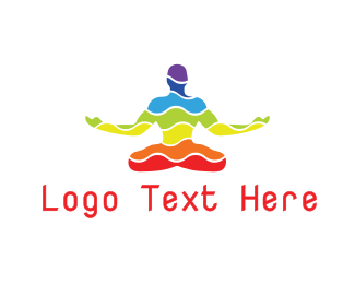 Yoga - Colorful Yoga Wave logo design