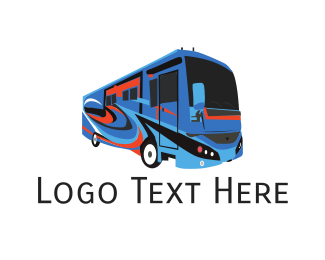 Bus - Tourist Bus logo design