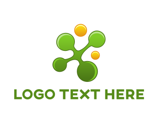 Business - Green & Yellow Circles logo design