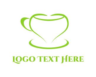 Latte - Love Cup logo design