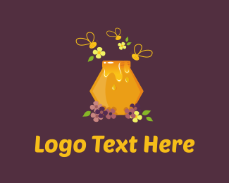 Jar - Honey Bee logo design