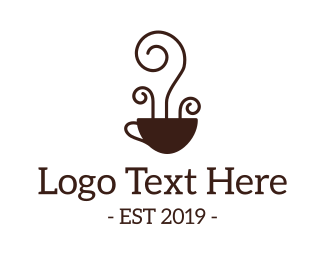 Cafeteria - Coffee Cup Art logo design