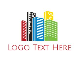 Infrastructure - Vibrant City logo design