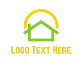 Solar - Green Home  logo design