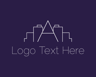 Real Estate - Letter A Skyline logo design