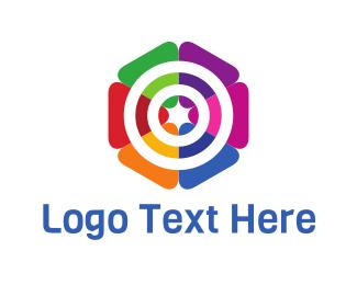 Blossom - Colorful Target logo design