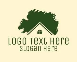 Mortgage - Green House logo design