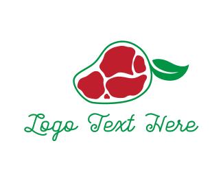 Salad - Beef Mango logo design