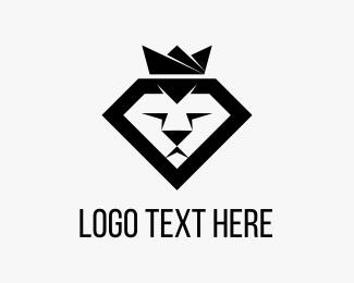 Lion - Diamond Lion logo design