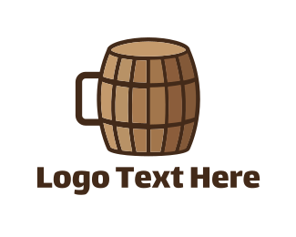 Brewery - Barrel Cup logo design