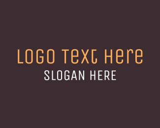 Minimalist - Brown Wordmark logo design