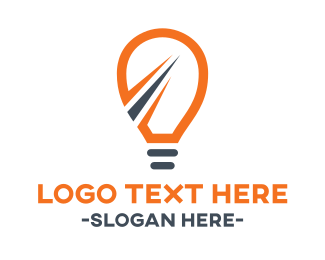 Lighting - Fast Light Bulb logo design
