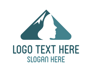 Skiing - Mountain People logo design