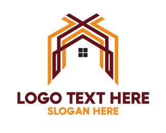 Shack - Orange Brown Housing logo design