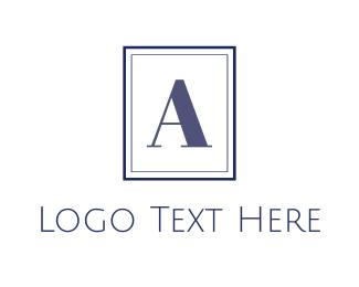 Monogram - Blue A Monogram logo design