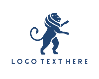 Feline - Wild Blue Lion logo design