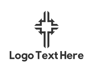 Religious - Black Cross logo design