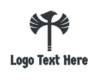 Lumberjack - Eagle Axe logo design