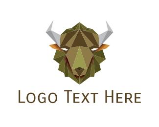 Buffalo - Geometric Buffalo logo design
