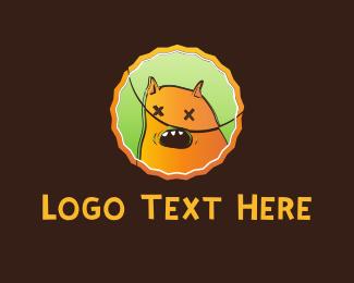 Sugar - Orange Monster Cartoon logo design