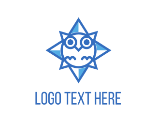 Chick - Blue Owl Star logo design