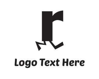 Running - Running R logo design