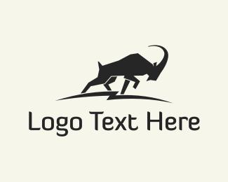 Goat - Wild Alpine Ibex logo design