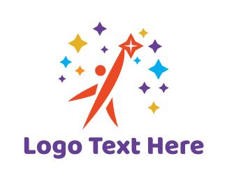 Goal - Man & Stars logo design