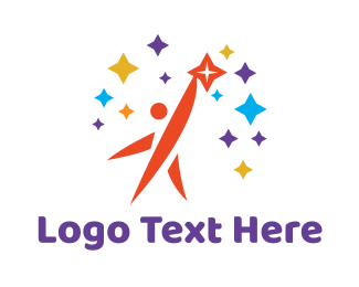 Man - Man & Stars logo design