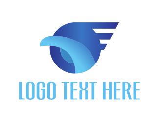 Business Consultant - Abstract Blue Bird logo design