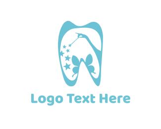 Pediatric - Tooth Fairy logo design