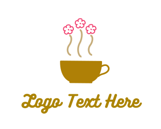 Tea - Flower Cup logo design