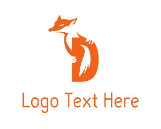 """Fox Letter D"" by logodad.com"
