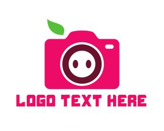 Pig - Pig Camera logo design